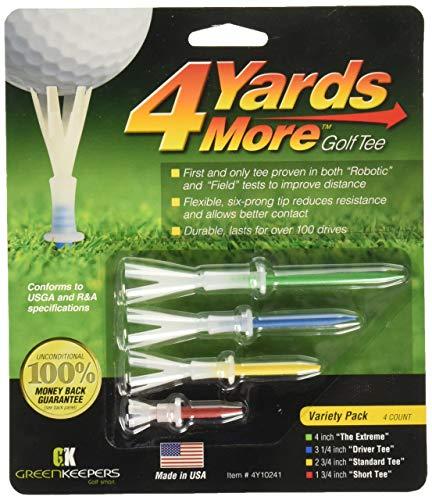 Green Keepers 4 Yards More Golf Tee - Variety Pack (4 Tees)