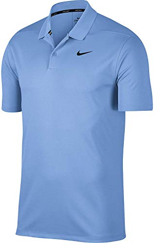 Nike Herren Men's Dry Victory Polo Solid Left Chest, University Blue/Black, Large