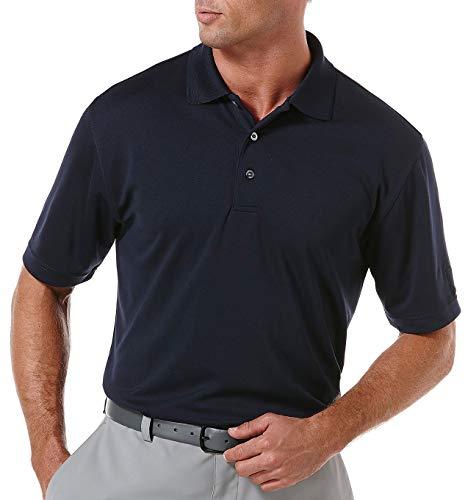 PGA TOUR Herren Airflux Solid Mesh Short Sleeve Golf Polo Shirt, (Sizes S-4xl) Golfhemd, True Navy, X-Groß