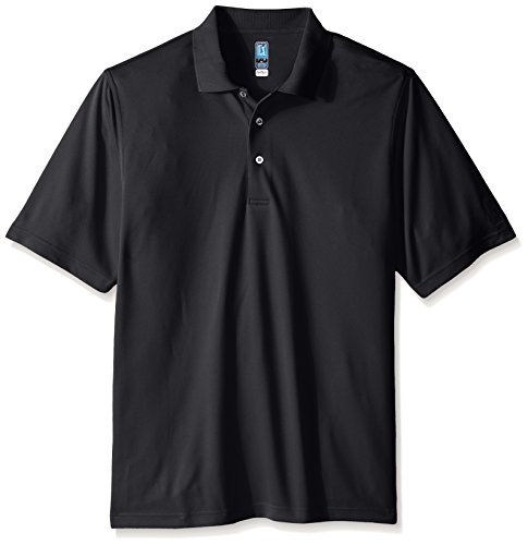 PGA TOUR Herren Airflux Golf-Polo-Shirt, kurzärmelig - Grau - X-Large Hoch