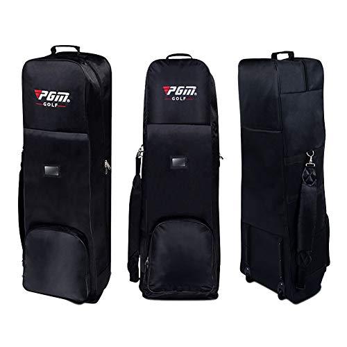 PGM Gepolsterte Golf Bag Travel Cover mit Rollen, schwarz