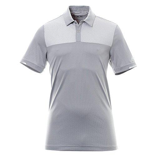 adidas Climachill Heather Block Competition Shirt Polo-Shirt Golf, Mann S grau