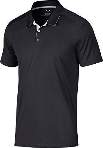 Oakley Herren Divisonal Polo Teilweise Poloshirt, Verdunkelung, L