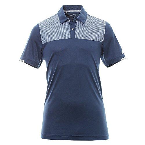 adidas Climachill Heather Block Competition Shirt Polo-Shirt Golf, Mann S dunkelblau