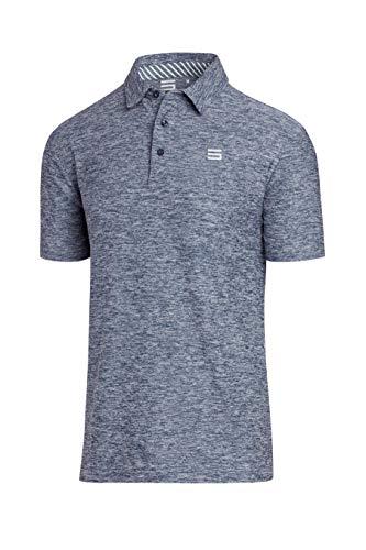 Jolt Gear Golf-Shirts für Herren – Dry Fit Kurzarm Polo, sportlicher lässiger Kragen, Herren, blau, XX-Large