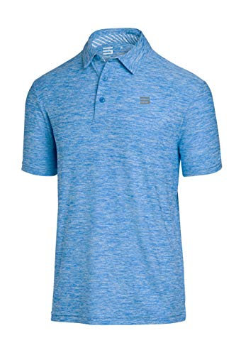 Jolt Gear Golf-Shirts für Herren – Dry Fit Kurzarm Polo, sportlicher lässiger Kragen, Herren, cool blue, X-Large