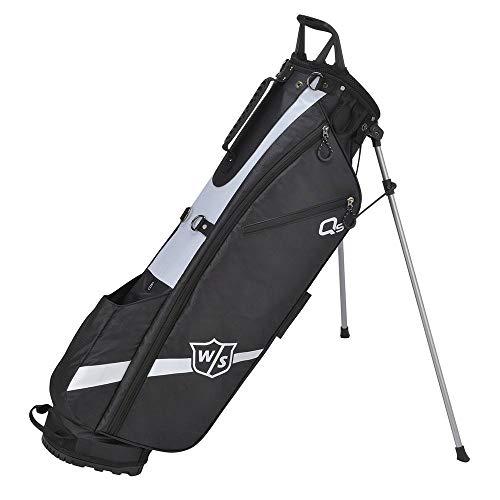 Wilson Staff Golftasche, Quiver Stand Bag, Mit 3 Fächern, Schwarz, WGB4321BL