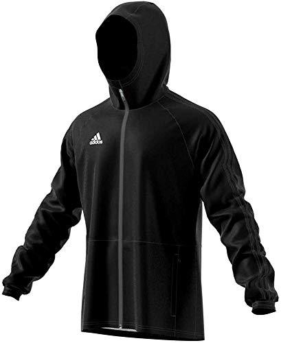 adidas Herren CON18 RAIN JKT Sport Jacket, Black/White, XS