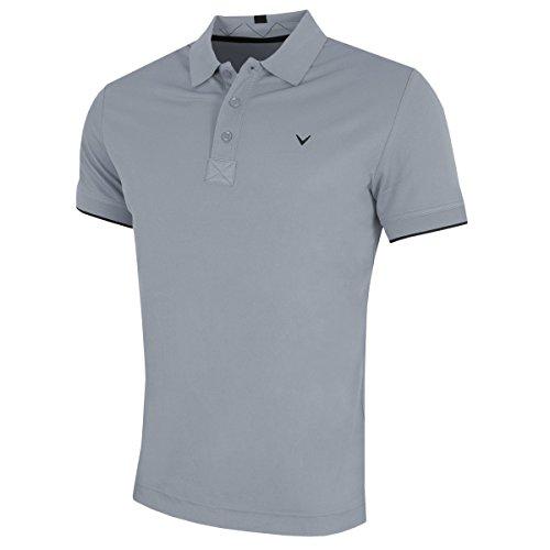 Callaway Contrast Tipped Golf Poloshirt für Herren XXL grau