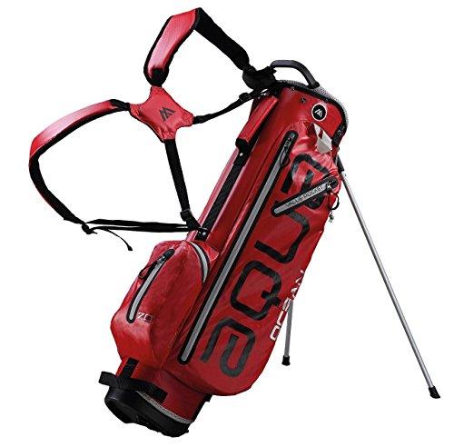 BIG MAX AQUA OCEAN Golf Standbag - Ultraleicht 100% Wasserdicht (Red/Silver)
