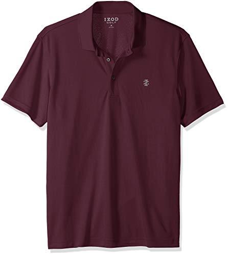 Izod Herren Performance Grid Polo Golf-T-Shirt, Feige lila, Klein