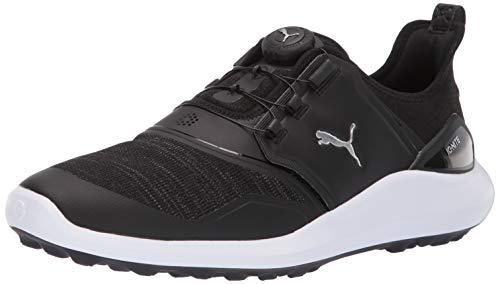 PUMA Herren Ignite Nxt Disc Golfschuh, Black Silver Weiß, 45 EU