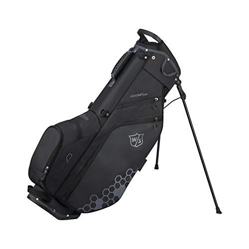 Wilson Staff Golftasche, Feather Golf Stand Bag, Tragetasche, Schwarz, Integrierter Ständer, 1,7 kg, WGB5705BL