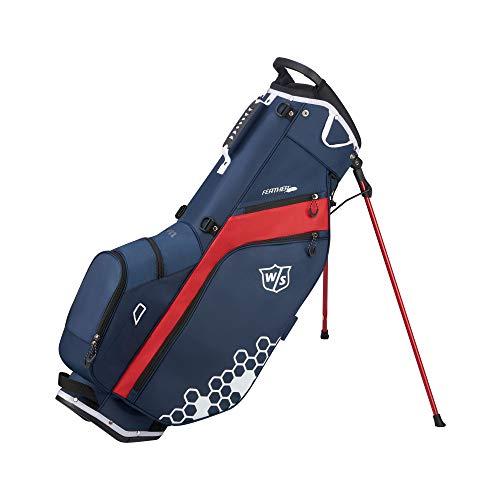 Wilson Staff Golftasche, Feather Golf Stand Bag, Tragetasche, Blau/Rot/Weiß, Integrierter Ständer, 1,7 kg, WGB5705NA