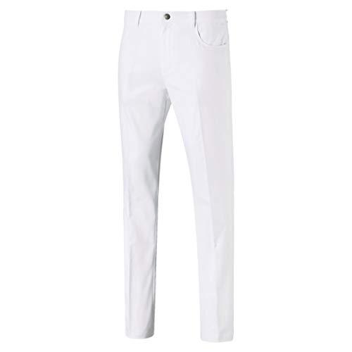 PUMA Herren Hose Jackpot 5 Pocket Pant, Bright White, W34/L32, 577975