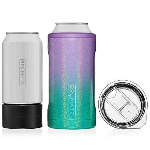 BrüMate HOPSULATOR TRíO 3-in-1 Edelstahl isolierter Dosenkühler, funktioniert mit 340 ml, 453 ml Dosen und als Pint-Glas (Meerjungfrau)
