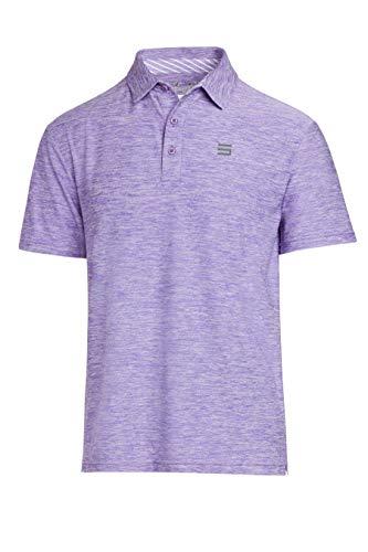 Jolt Gear Golf-Shirts für Herren – Dry Fit Kurzarm Polo, sportlicher lässiger Kragen, Herren, violett, 3X-Large