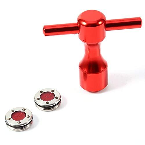 Golf Gewicht Schraubenschlüssel Werkzeug Golf Schraube Schlüssel Werkzeug, 2 Stück Rot Golf Putter Gewichte + Golf Schraubenschlüssel Werkzeug für Titleist Scotty Cameron Putter(20g)