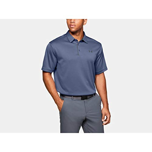Under Armour Herren Tech Polo Atmungsaktives Poloshirt, Komfortables Und Kurzärmliges Sportshirt Mit Loser Passform, Blau, LG