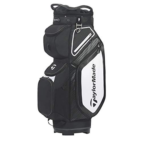 TaylorMade TM20 Cart8.0 Bag Black White Charcoal Cartbag, Schwarz, Einheitsgröße