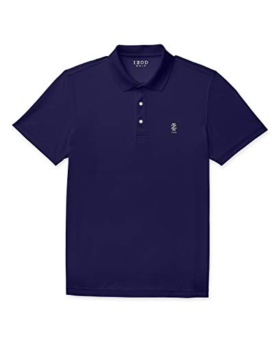 Izod Herren Short Sleeve Golf Performance Stretch Polo Shirt Poloshirt, Peacoat, Mittel