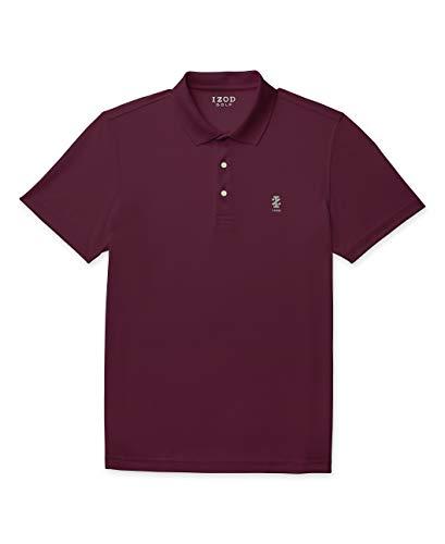 Izod Herren Short Sleeve Golf Performance Stretch Polo Shirt Polohemd, Feige, X-Groß