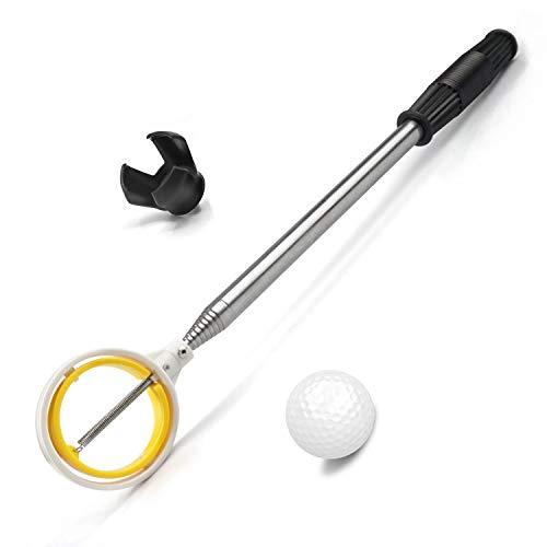 prowithlin Golfball-Retriever, rostfreier Teleskop Ballsammler für Wasser mit Golfball-Putter-Grabber-Klauen-Saugwerkzeug, Golfzubehör Golfgeschenk für Männer (1.83)