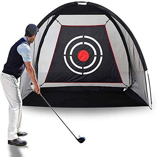 TZUTOGETHER Golf übungsnetz 2m Länge,Faltbarer Golf-Übungskäfig Driving Hitting Net Trainingshilfe für den Innenbereich mit Ziel und Tragetasche, tragbares Golf-Antriebsnetze für den Garten