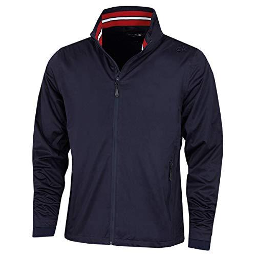 Calvin Klein Herren Kragen Details wasserdichte Golfjacke - Marine/Rot - XL