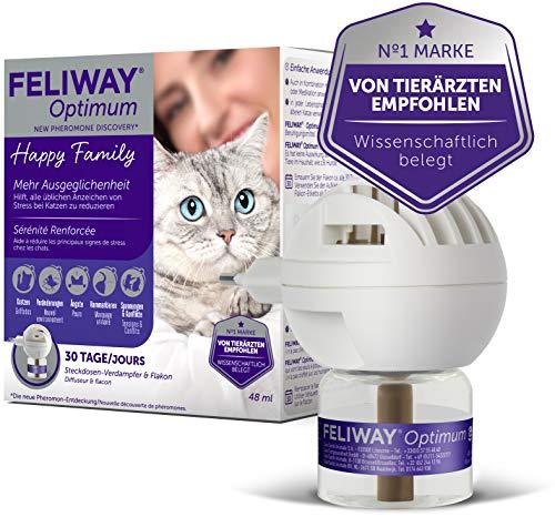 FELIWAY® Optimum Start-Set   Hilft Katzen ruhig & entspannt zu bleiben   Verdampfer für Steckdose & Flakon 48ml