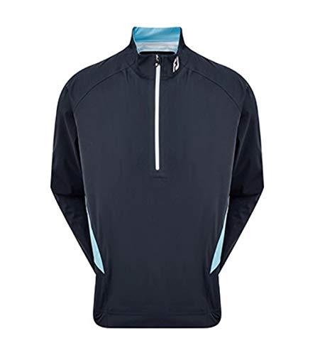 Footjoy Herren HYDROKNIT 1/2 Zip Golfhemd, himmelblau/Marineblau, XL