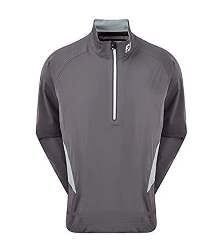 Footjoy Herren HYDROKNIT 1/2 Zip Golfhemd, dunkelgrau, XL