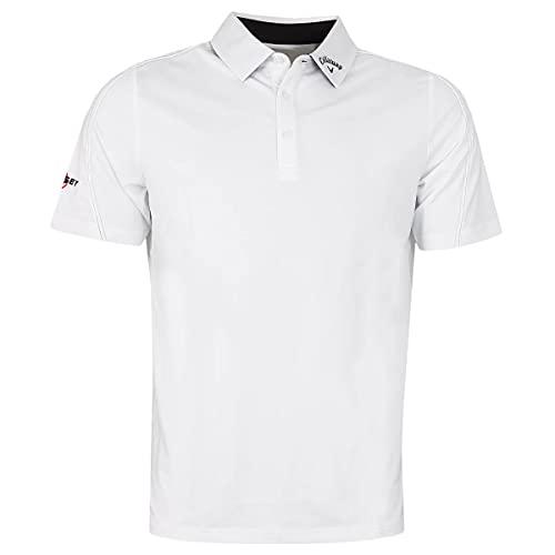 Callaway Golf Herren genähte Farbblock Golf-Polo-Hemd - Bright Weiß - XXXL
